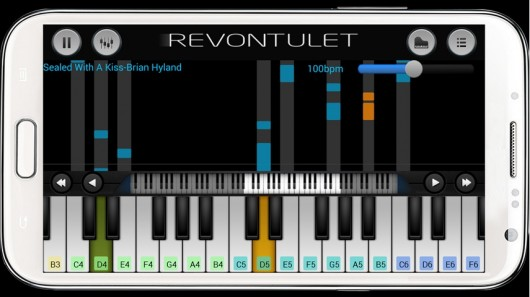 Приложение Perfect Piano для Android - проигрыш сочетания нот