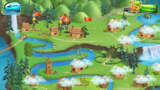 Выбор локаций в игре Маша и Медведь: Игра для Samsung Galaxy