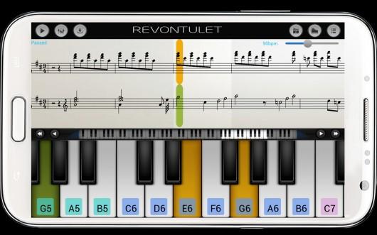 Приложение Perfect Piano для Android - игра в режиме обучения
