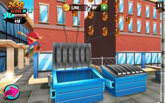 Epic Skater - для Samsung Galaxy - трюки в воздухе