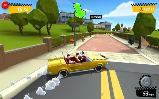 Crazy Taxi City Rush для Samsung Galaxy - новые маршруты