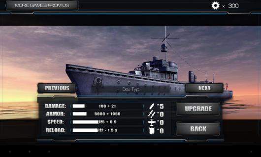 World Warships Combat для Android - улучшай корабли