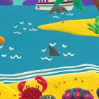 KM Beach Live wallpaper HD — мультяшный пляж