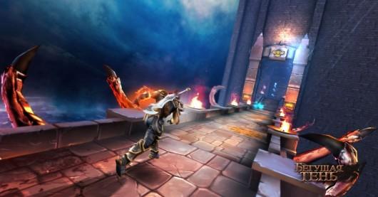 Игра Бегущая Тень для Samsung Galaxy - Тень бежит по мосту