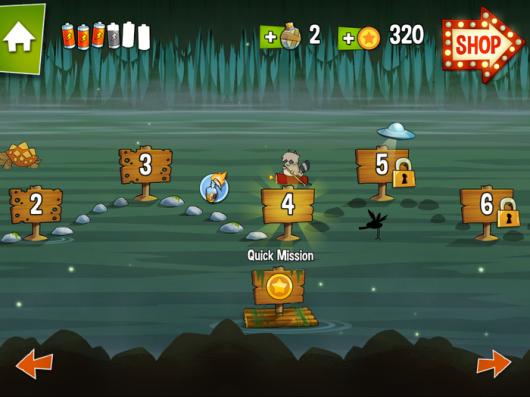 Игра Swamp Attack - прогресс по сюжету