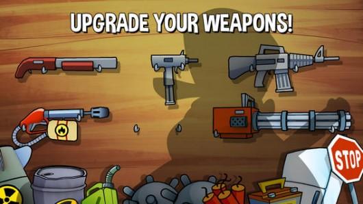 Игра Swamp Attack - апгрейд оружия