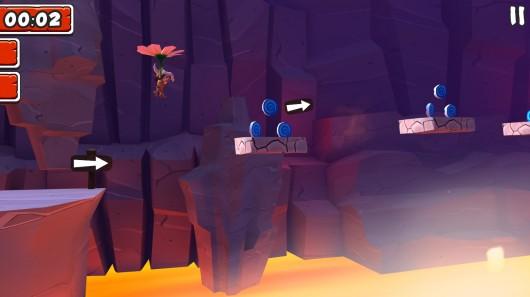 Игра Manuganu 2 для Samsung Galaxy: летим на цветке через пропасть