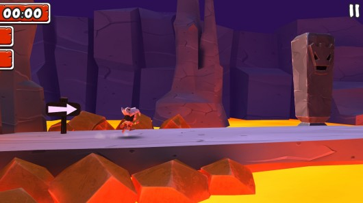 Игра Manuganu 2 для Samsung Galaxy: бежим по пещерам с раскаленной лавой
