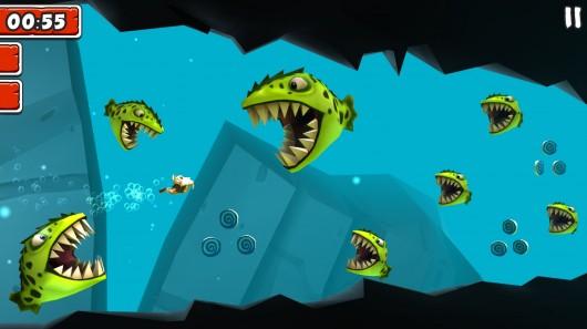 Игра Manuganu 2 для Samsung Galaxy: уворачиваемся от злобных пираний