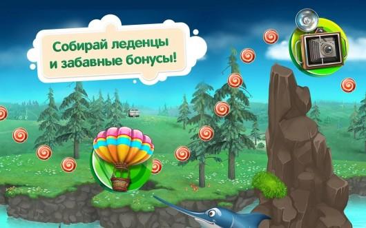 Путешествие с Машей на воздушном шаре - Маша и Медведь: Маша соберает леденцы, игра для Samsung Galaxy
