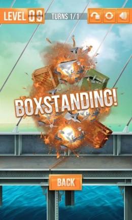 Мощный взрыв всех ящиков в игре Switch The Box для Samsung Galaxy