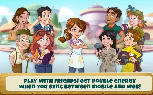 Соревнования с друзьями в игре Kitchen Scramble для Android