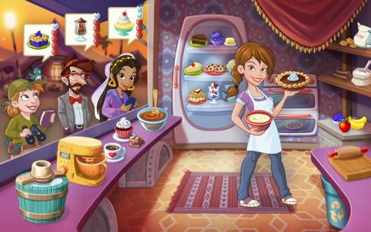 Приготовление еды в игре Kitchen Scramble для Android