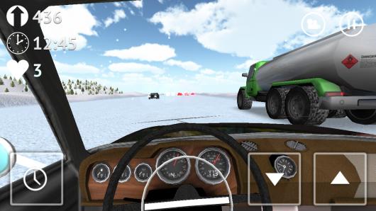 Russian Traffic Racer - вид с салона машины