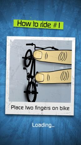 Touchgrind BMX - простое управления двумя пальцами