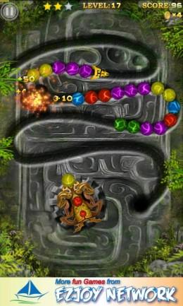 Marble Blast 2 - разбитие цепочки