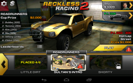 Reckless Racing 2 - выбор трассы