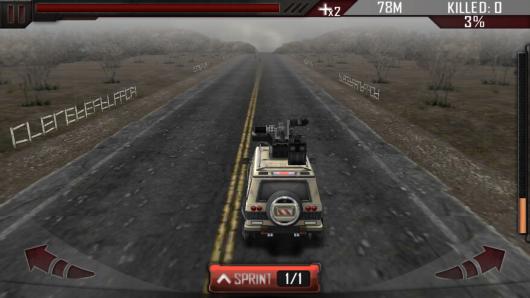 Zombie Road 3D - уникальное управление