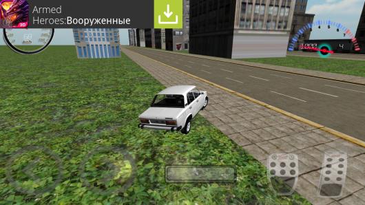 Lada Racing Simulator 2106 - выезд на обочину