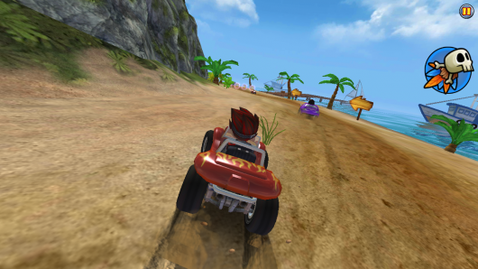 Beach Buggy Racing - опасные поворты