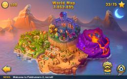 Fieldrunners 2 - карта мира