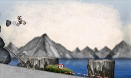 Stickman Downhill - Motocross - спуск