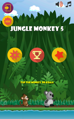 Jungle Monkey 5 - меню
