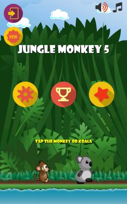 Jungle Monkey 5 - меню