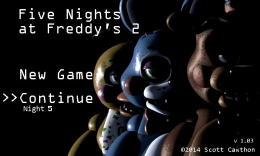 Five Nights at Freddy's 2 - заставка