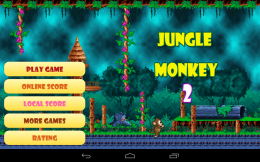 Jungle Monkey 2 - меню
