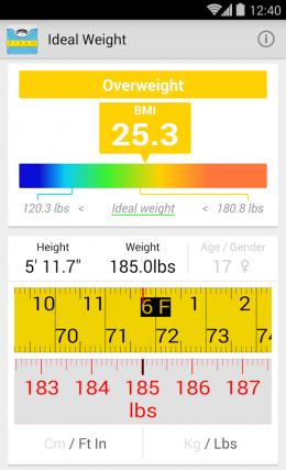 Идеальный вес (ИМТ) - программа
