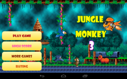 Jungle Monkey 3 - меню