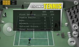 Stickman Tennis - статистика