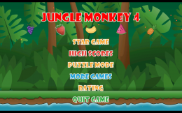 Jungle Monkey 4 - меню
