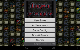 Dungeon Ascendance -меню
