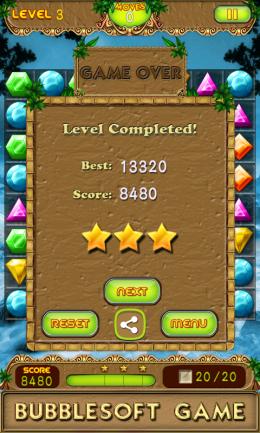Jewel Quest 4 - конец уровня