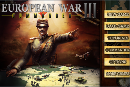 European War 3 - меню