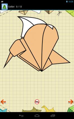 Cхемы Оригами - колибри