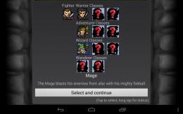 Dungeon Ascendance - выбор героя