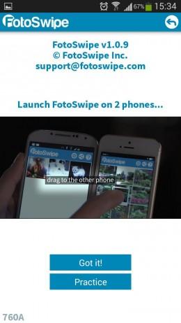 Передача - FotoSwipe для Android