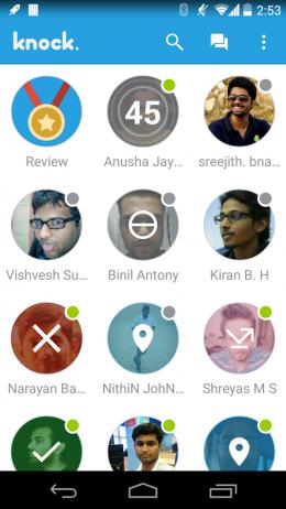 Контакты - Knock для Android
