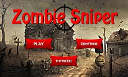 Меню - Zombie Sniper для Android