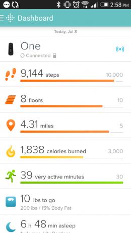 Расстояние - Fitbit для Android