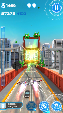 Полет - Jet Run: City Defender для Android