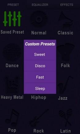 Пресеты - Music Equalizer Pro для Android