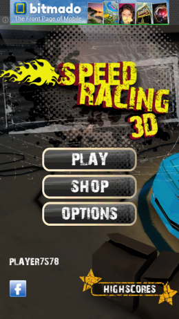Меню - Speed Racing 3D для Android