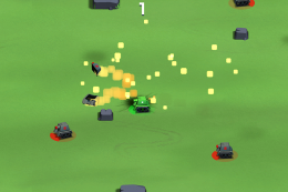 Геймплей - Bumper Tank Battle для Android