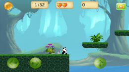 Геймплей - Jungle Panda Run для Android