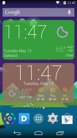 Большие виджеты - Kairo для Android