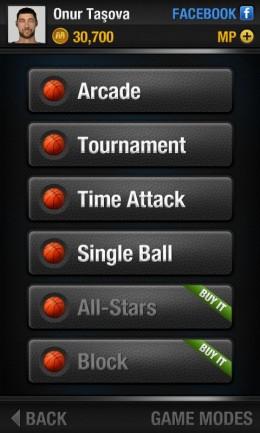 Режимы - Real Basketball для Android